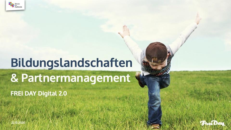 FREI DAY Digital 2.2. – Bildungslandschaften & Partnermanagement